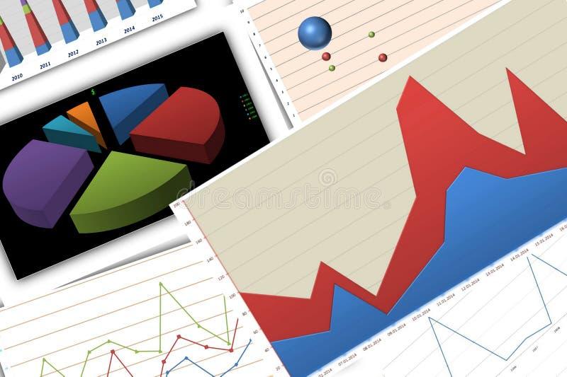 ökande tillväxt för grafer för affärsdiagram gagnar hastigheter vektor illustrationer
