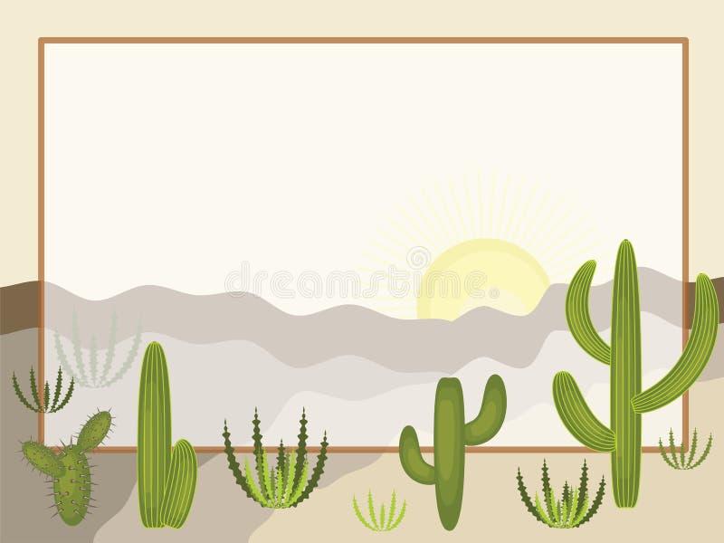 Öken stock illustrationer