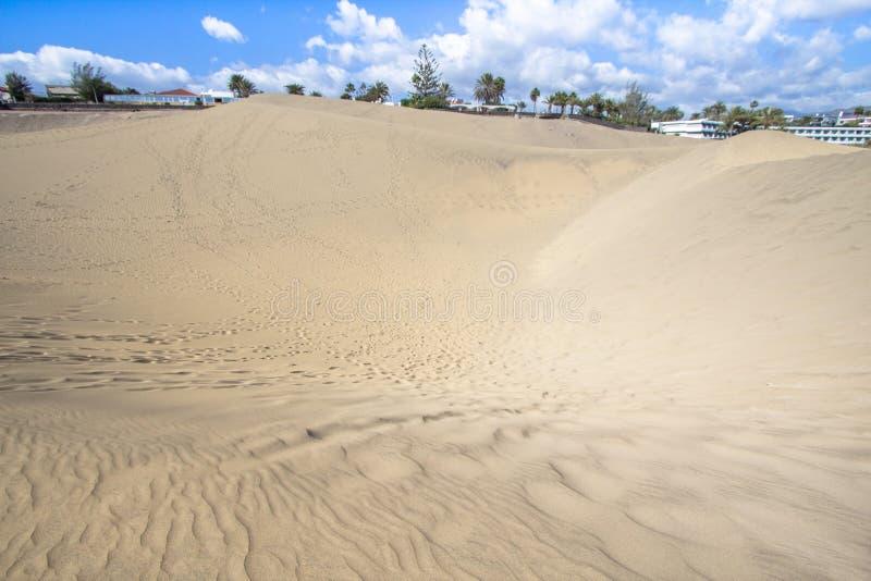 Öken för Maspalomas sanddyn, storslagna Canaria arkivbilder