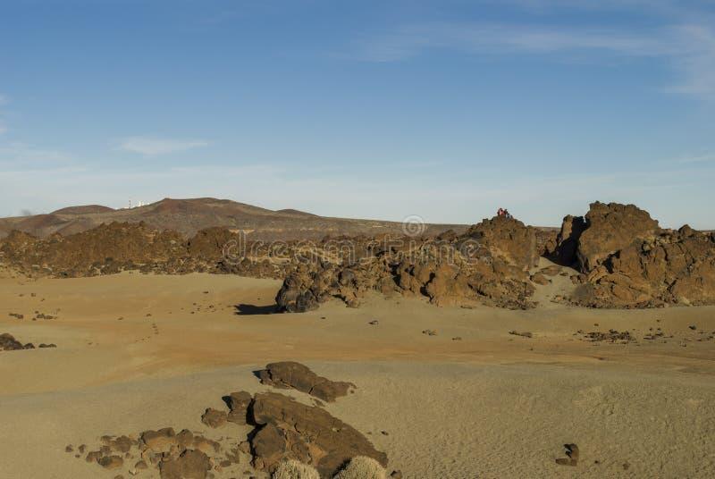 Öken (Tenerife, kanariefågelöar) arkivbilder