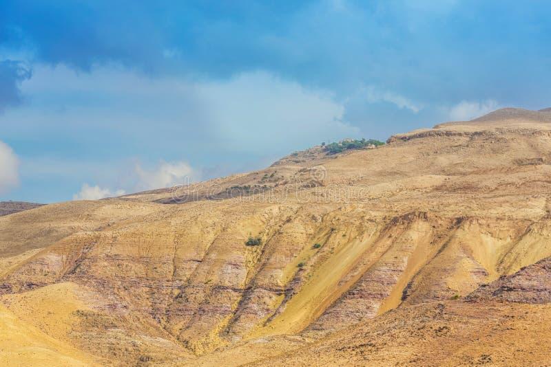 Ökenberglandskap, Jordanien, Mellanösten arkivfoto