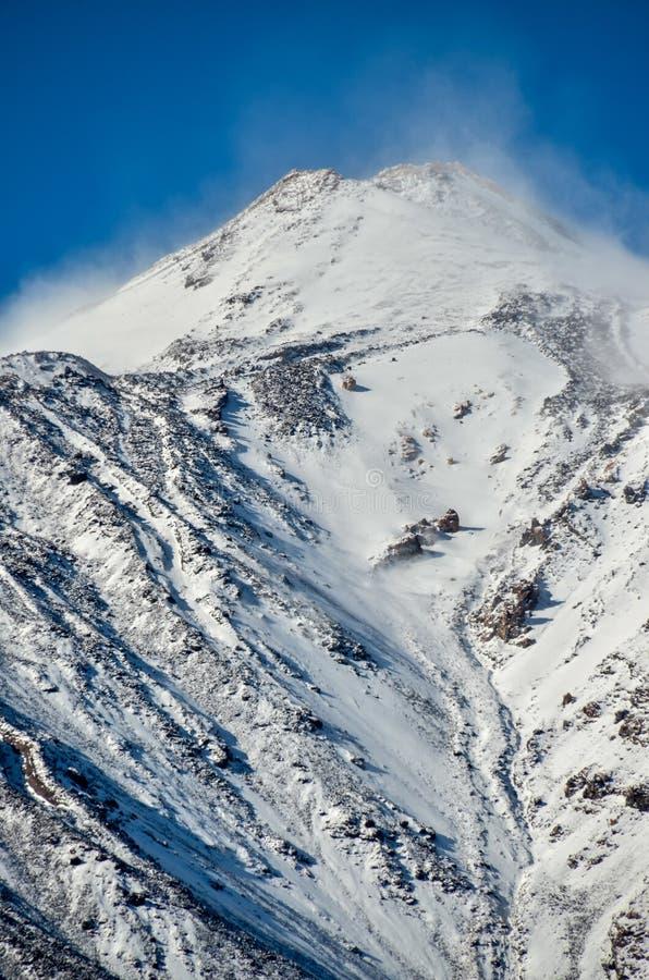 Ökenlandskap i den Volcan Teide nationalparken arkivfoton