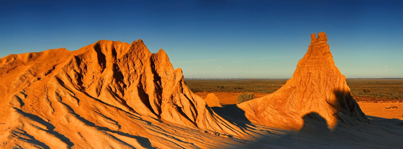 Ökenlandskapvildmark Australien royaltyfri bild