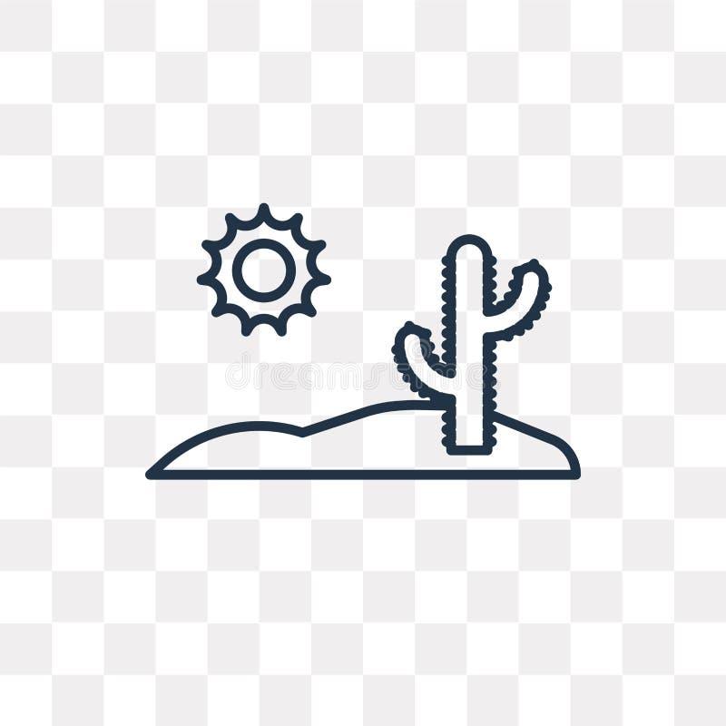 Ökenvektorsymbol som isoleras på genomskinlig bakgrund, linjär De stock illustrationer