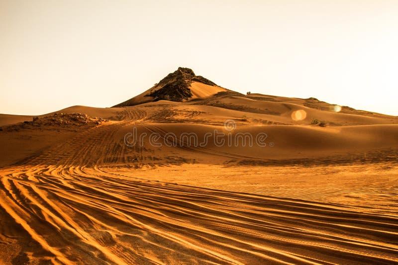 Öknar Dubai royaltyfri fotografi
