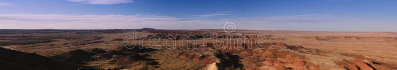 öknen målade panorama- sikt arkivfoton