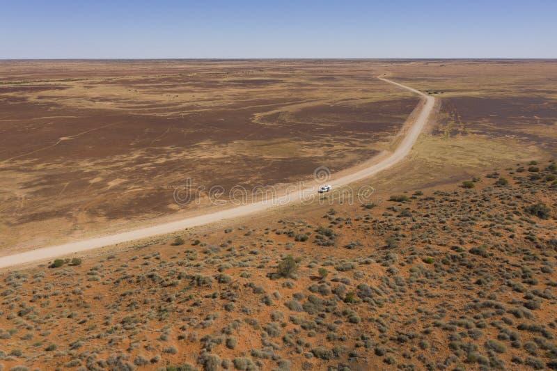 Öknen pladdrar slättlandet som är södra av bouliaen, Queensland arkivbild