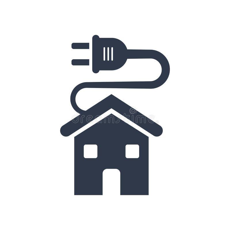 Öko-Haus-Ikonenvektorzeichen und -symbol lokalisiert auf weißem backgrou stock abbildung