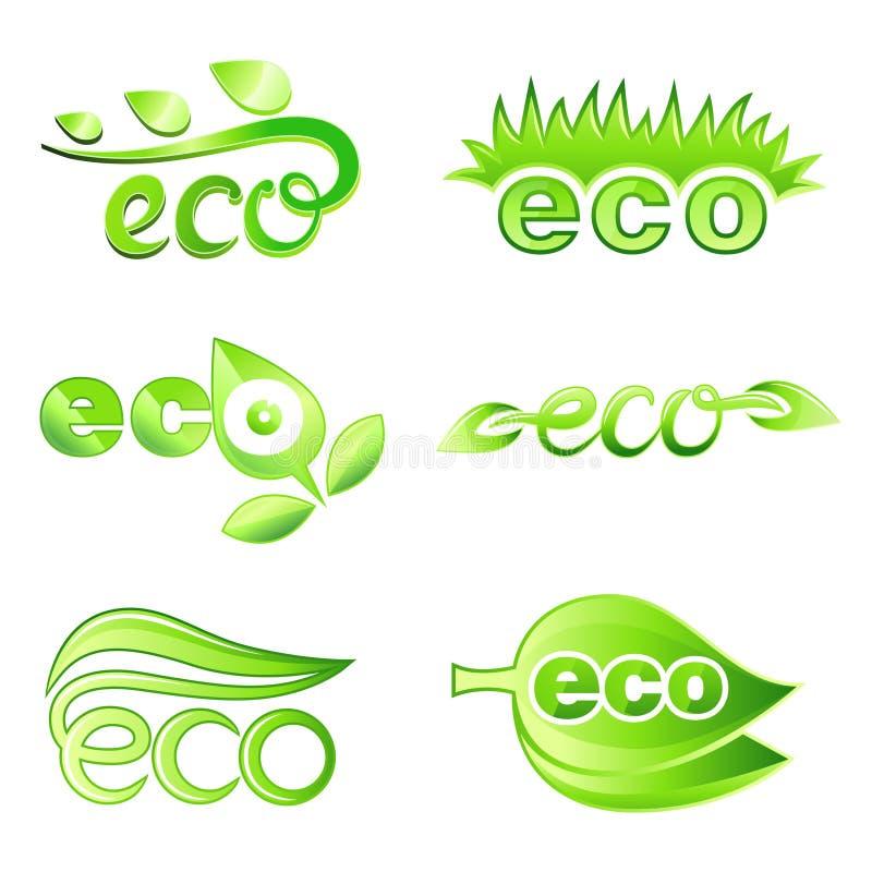 Ökologie-Auslegung-Elemente lizenzfreie abbildung