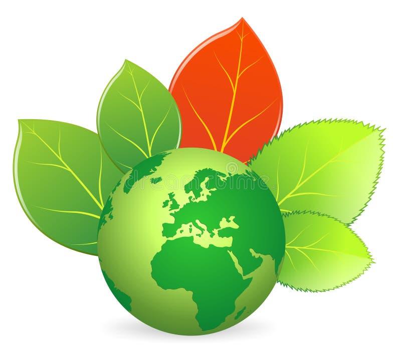 Ökologie der grünen Erde stock abbildung