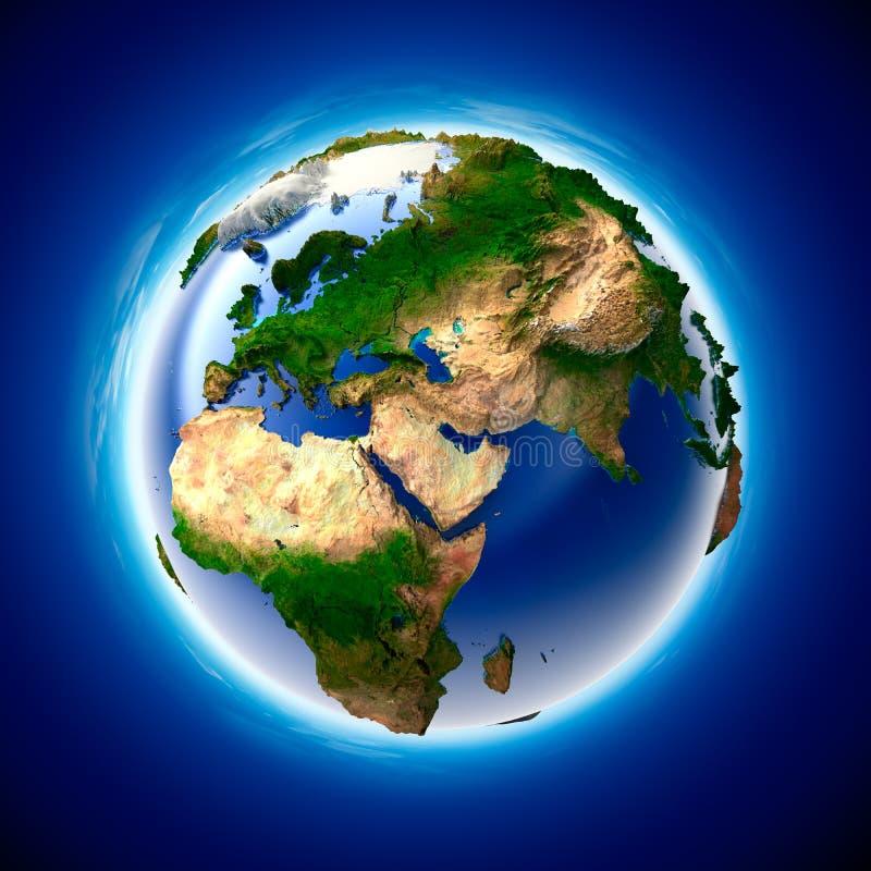 Ökologie-Erde lizenzfreie abbildung