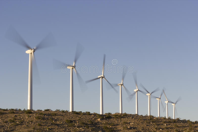Ökologie-freundliche Wind-Energie stockfoto