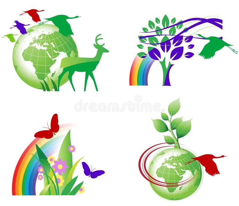 Ökologie-Ikonen stock abbildung