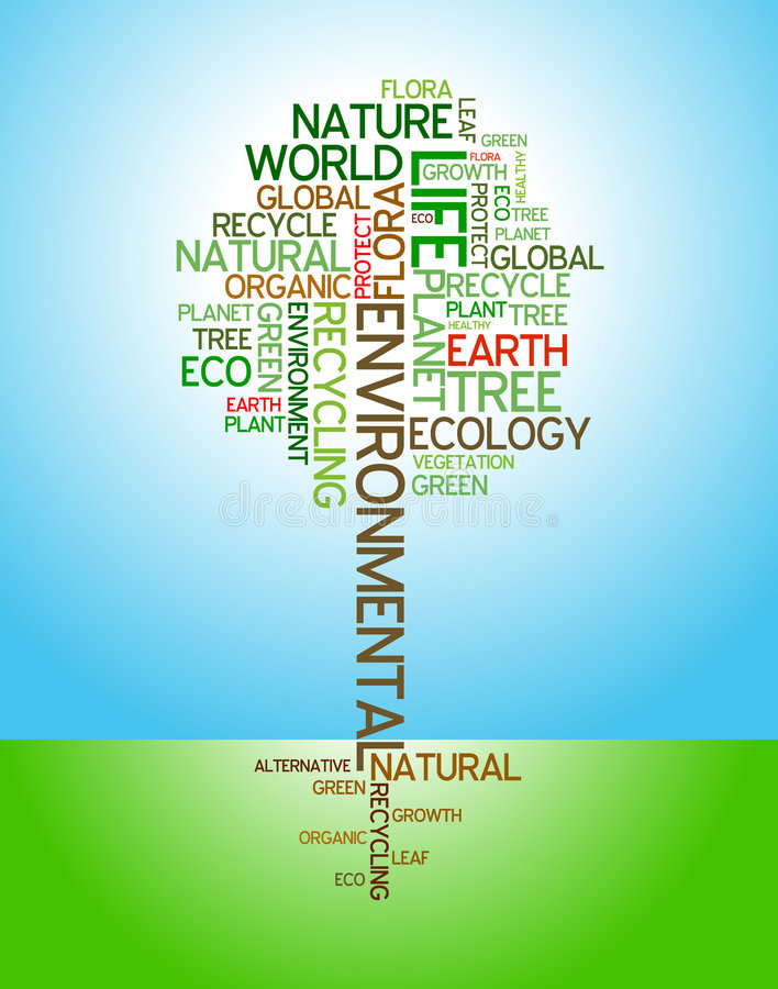 Ökologie - Umweltplakat stock abbildung