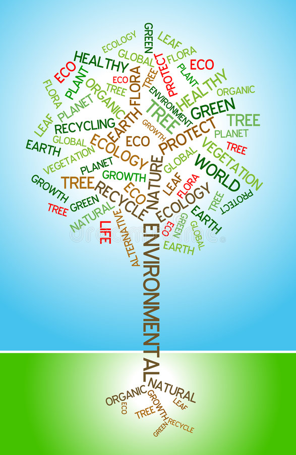 Ökologie - Umweltplakat vektor abbildung
