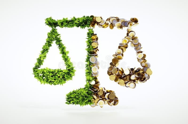 Ökologie und Geschäft lizenzfreie abbildung
