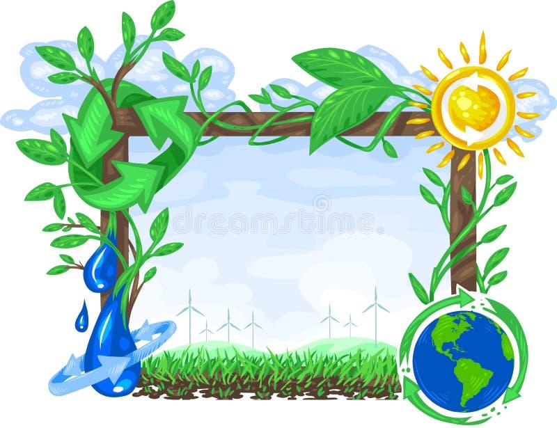 Ökologie-Zeichen vektor abbildung