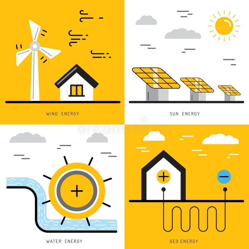 Ökologieenergiekonzept 17 lizenzfreie abbildung