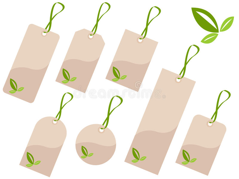 Ökologiemarken stock abbildung