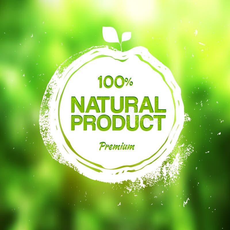 Ökologiestempel-Zeichnungsaufkleber für Bioprodukt stock abbildung