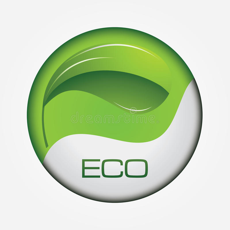 Ökologieweb-Taste vektor abbildung