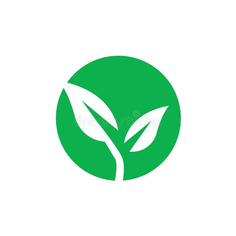 Ökologisch-grüner Vektor Umweltfreundliches Symbol Zeichenkettenvektor Symbol für Verpackungen Erneuerbare Produkte Grünes Umwelt stock abbildung