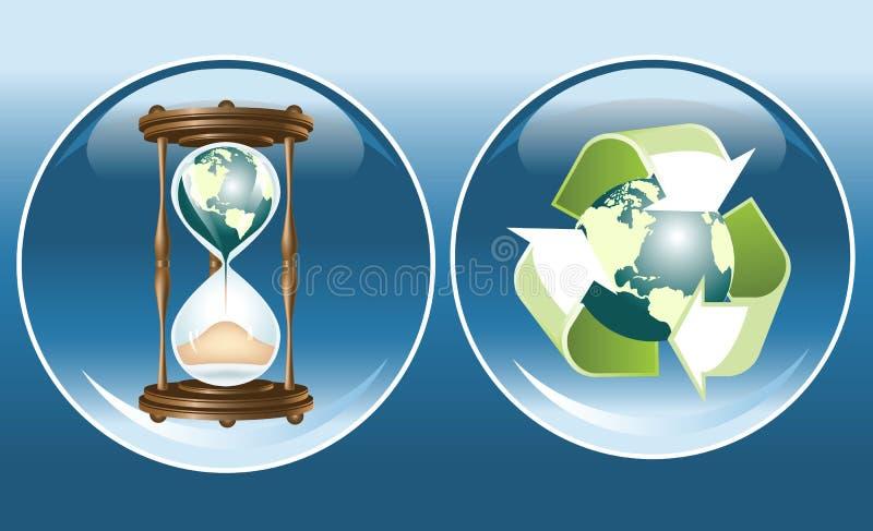 Ökologische Symbole stock abbildung