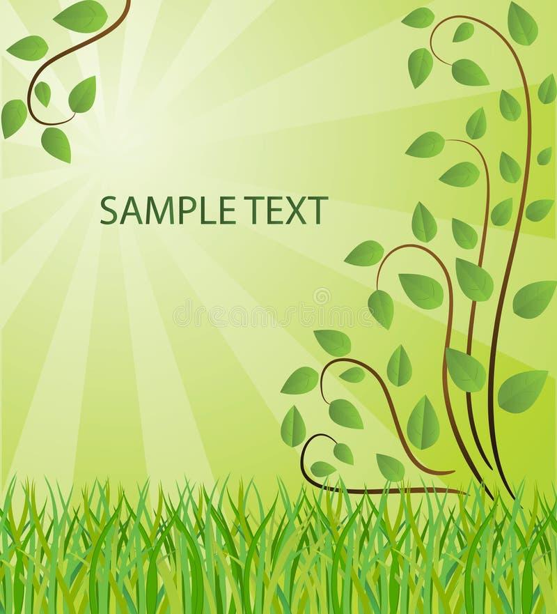 Ökologischer Hintergrund stock abbildung