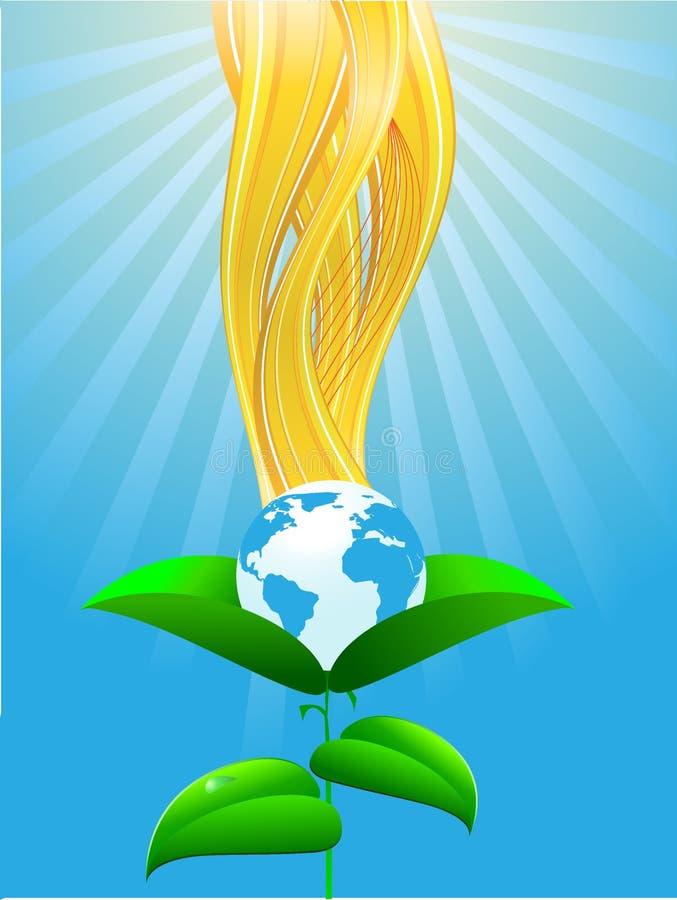 Ökologischer Planet lizenzfreie abbildung