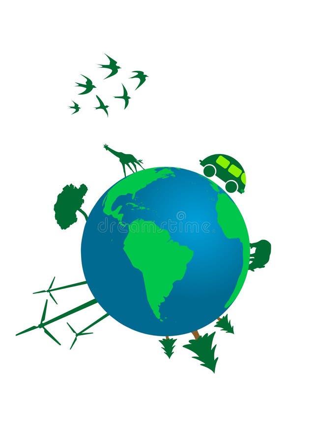ökologisches Konzept lizenzfreie abbildung