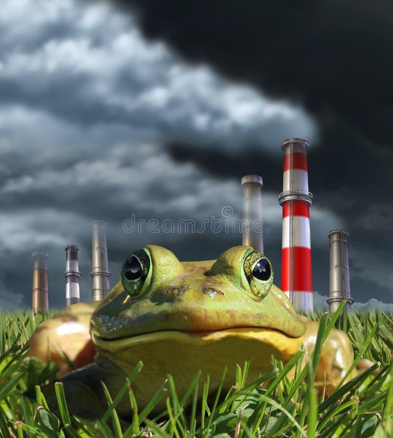 ökologisches Krisenfoto lizenzfreie abbildung