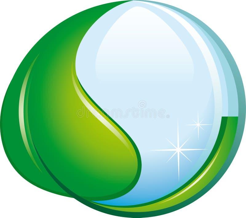 Ökologisches Symbol lizenzfreie abbildung