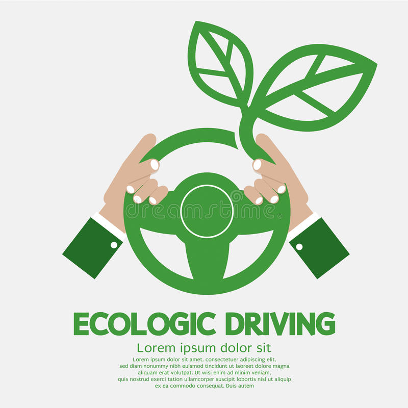 Ökologisches treibendes Konzept lizenzfreie abbildung