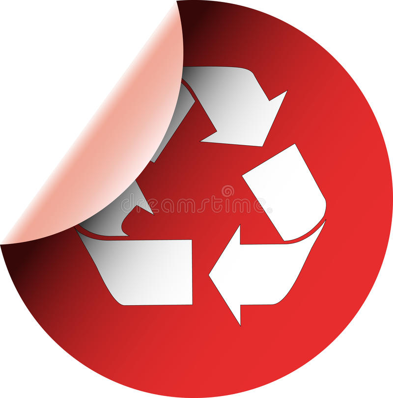 Ökologisches WARNING bereiten roten Aufkleber auf stock abbildung