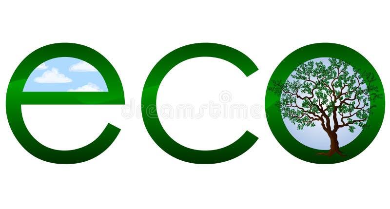 Ökologisches Zeichen oder Emblem stock abbildung