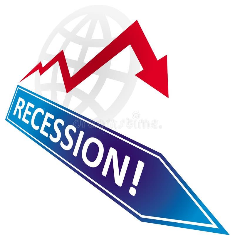Ökonomische Rezession lizenzfreie abbildung