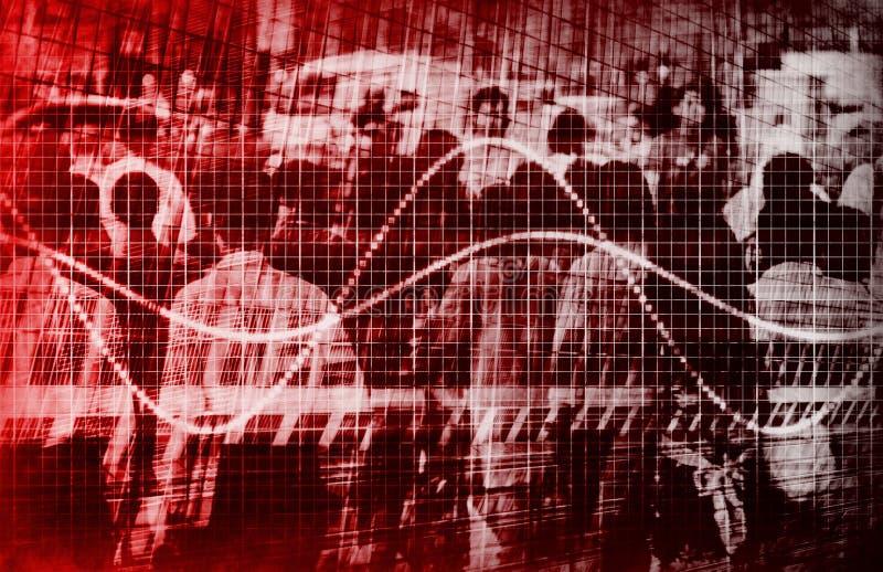 Ökonomischer Trübsinn-grimmiger Prognosen-Auszug lizenzfreie abbildung