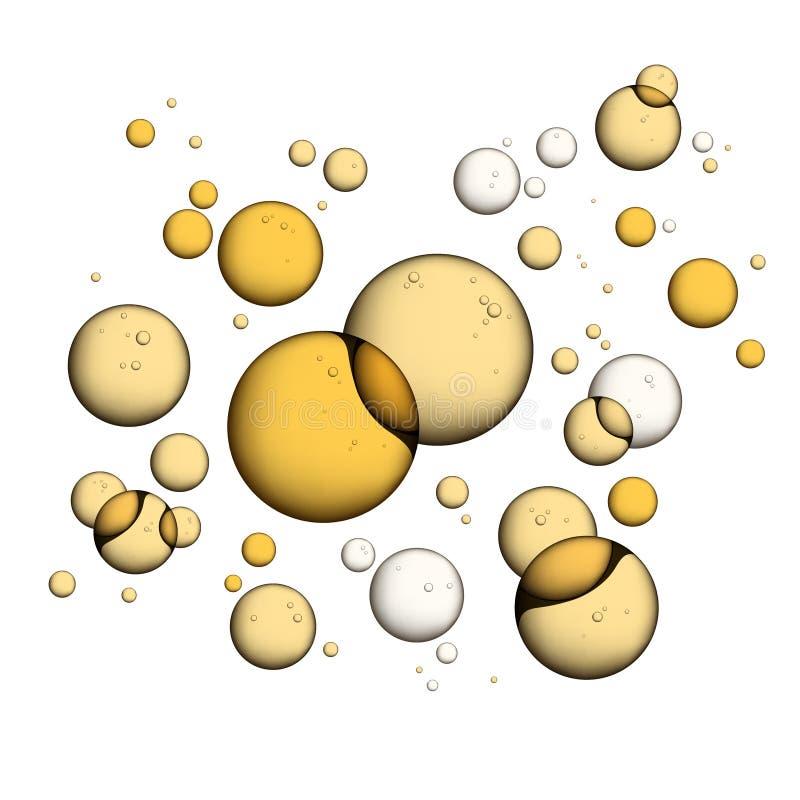 Öl-Blasen auf Weiß vektor abbildung
