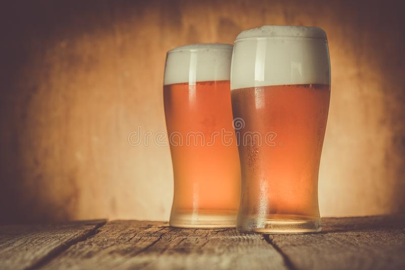 Öl i frostigt rånar på lantlig bakgrund royaltyfri bild