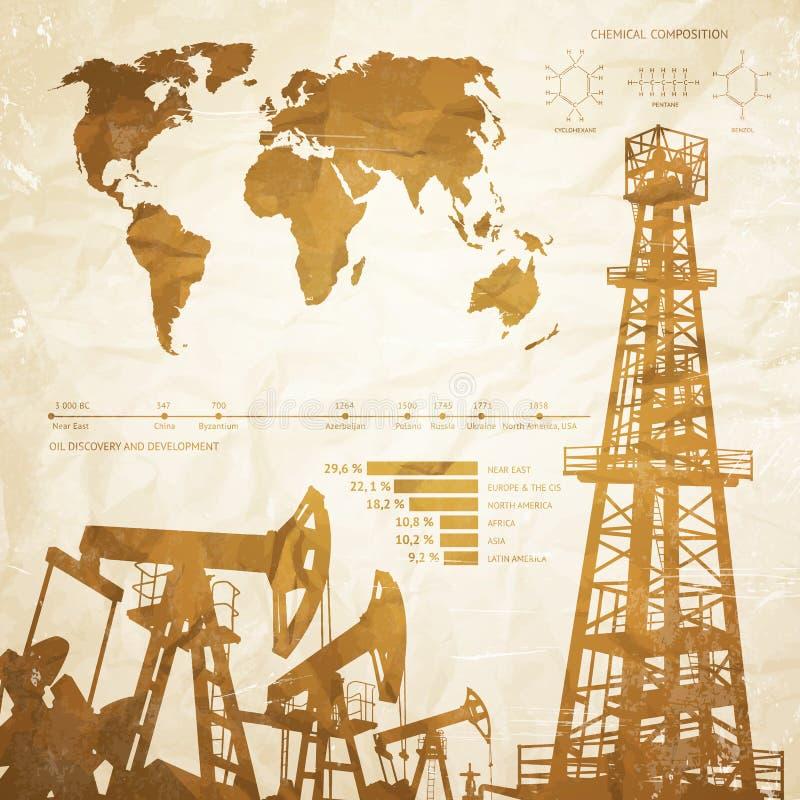 Öl infographics lizenzfreie abbildung