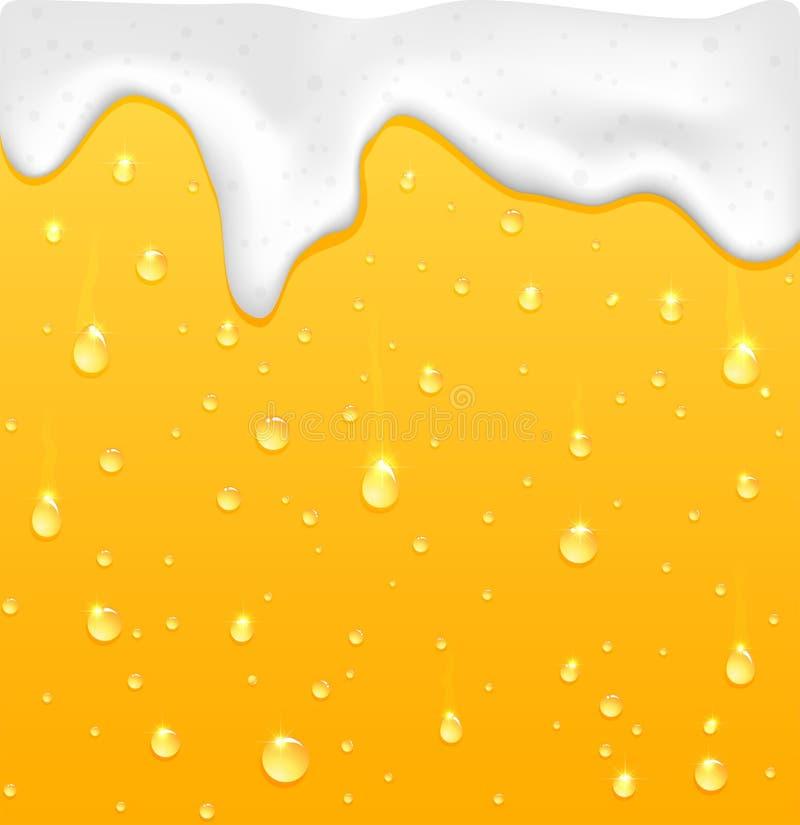 Öl med skum stock illustrationer