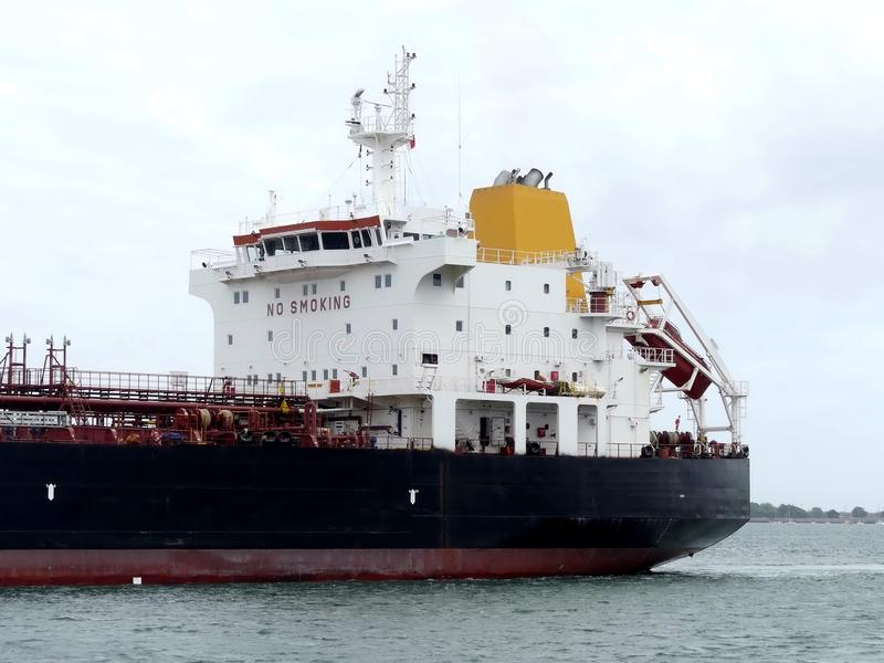 Öl-Tanker im Hafen lizenzfreies stockfoto