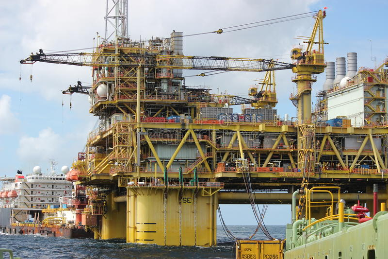 Öl u. Gasexploration stockfotografie