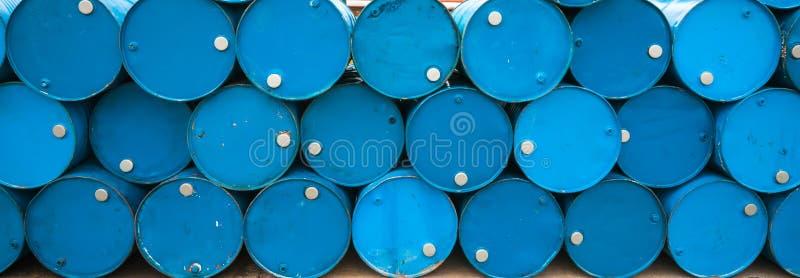 Ölbarrel oder chemische Trommeln stockfotografie