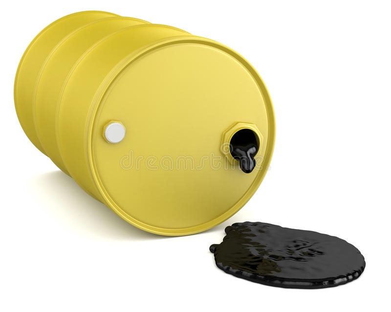 Ölbarrel und Pool vektor abbildung