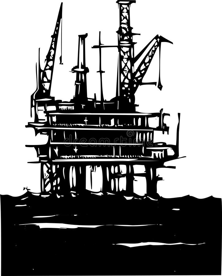 Ölbohrinsel stock abbildung