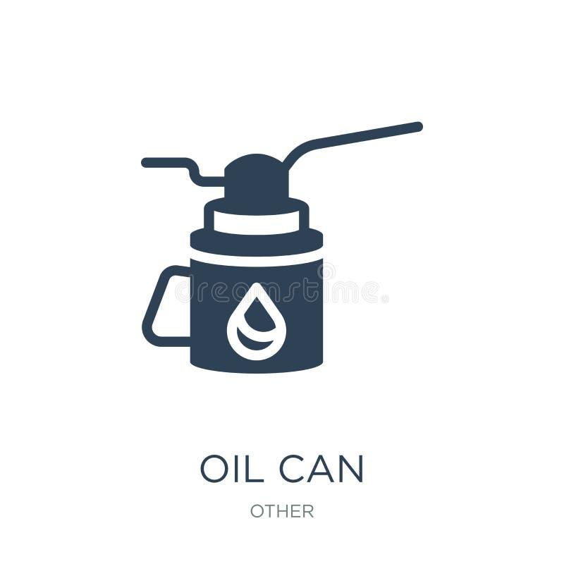 Öldosenikone in der modischen Entwurfsart Öl kann die Ikone, die auf weißem Hintergrund lokalisiert wird Öl kann einfaches und mo lizenzfreie abbildung