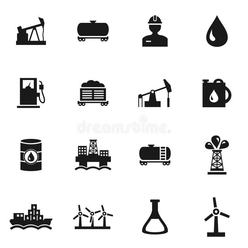 Ölen Sie Ikonen stock abbildung