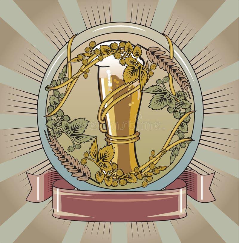 öletikett royaltyfri illustrationer