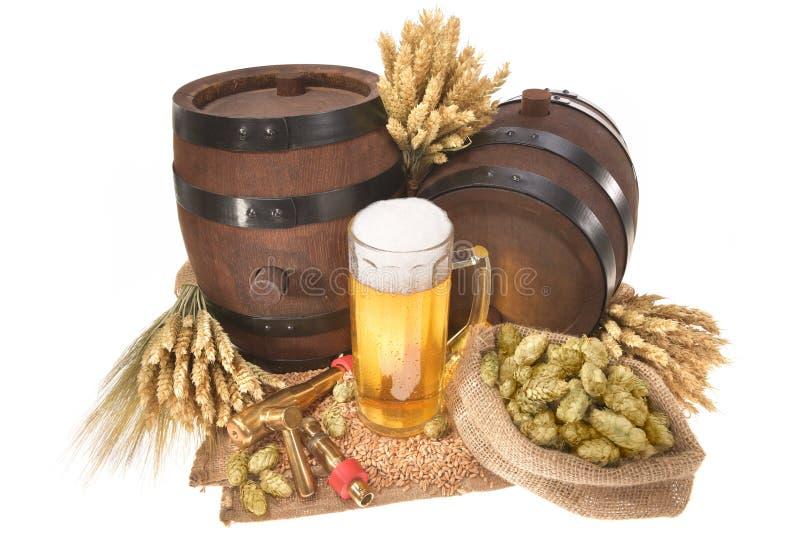 Ölexponeringsglas med trummor royaltyfria foton